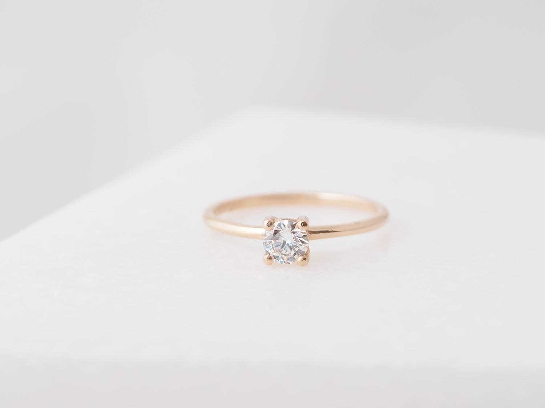 solitair large - witte diamant