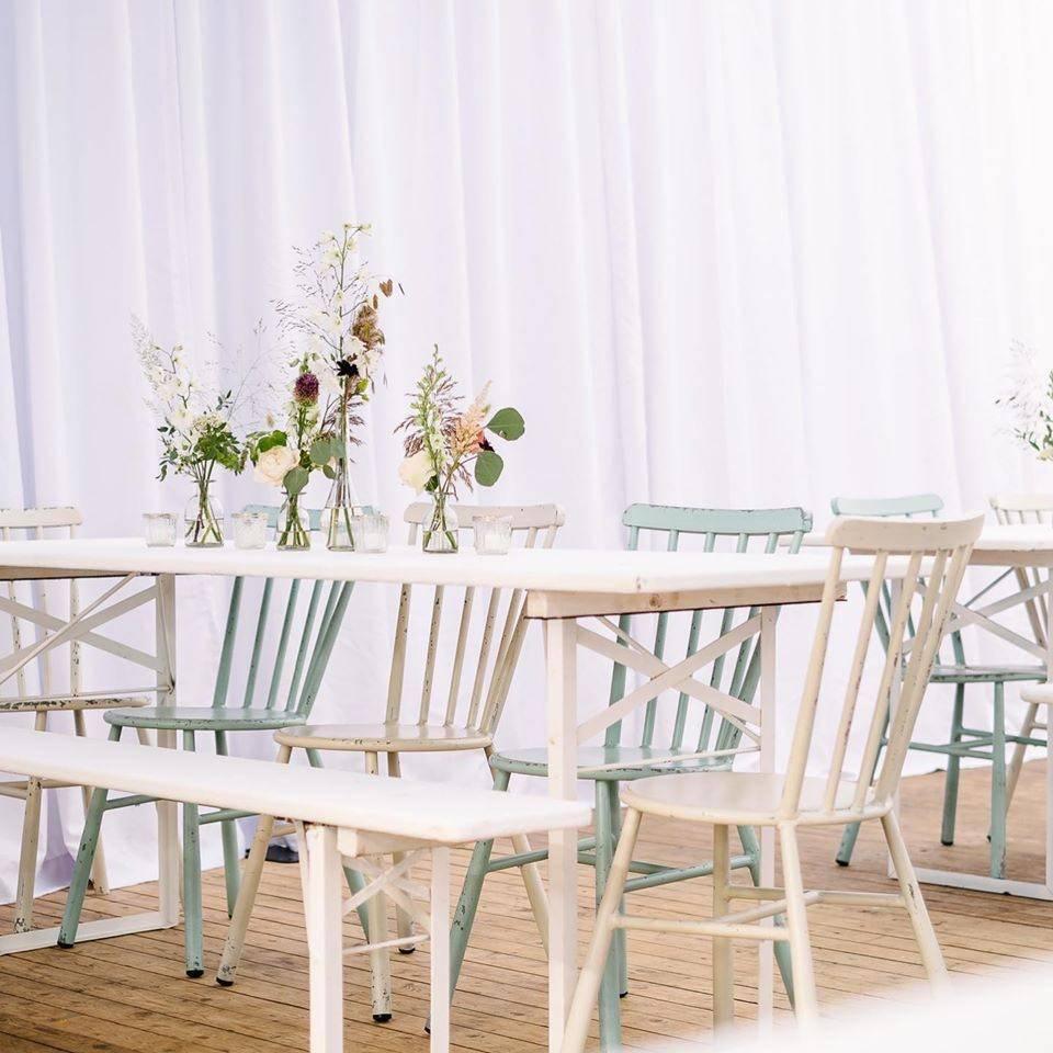 Bahama, biertafel wit, zitbank wit (3) - Cachet events