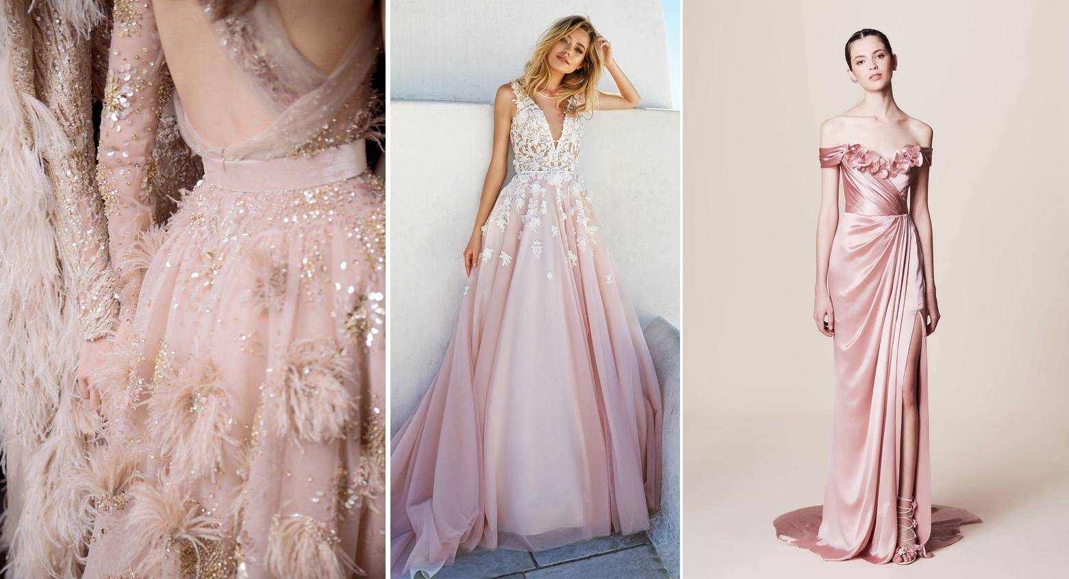 Trouwjurk Blush.Trend Romantisch Trouwen In De Kleur Blush House Of Weddings