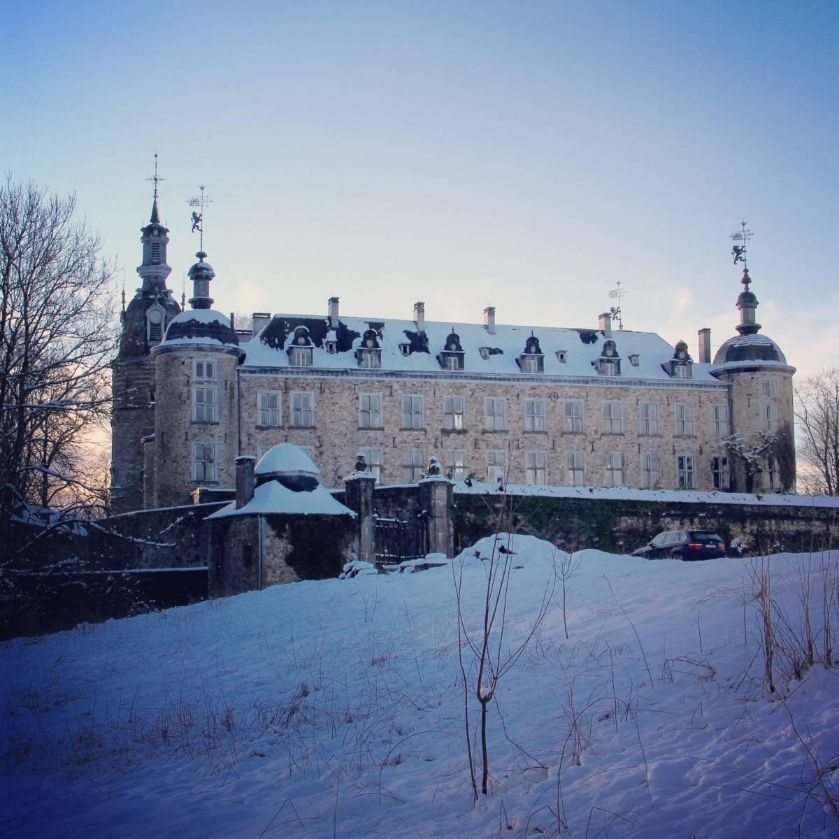 Château de Mirwart_sneeuw