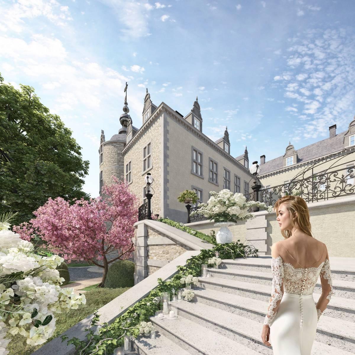 Château de Mirwart_wedding theme escalier (1)