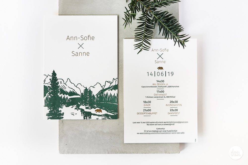 Dasi - Wedding Stationery - Grafisch design - Trouwuitnodiging - Huwelijksuitnodiging - House of Weddings - 13