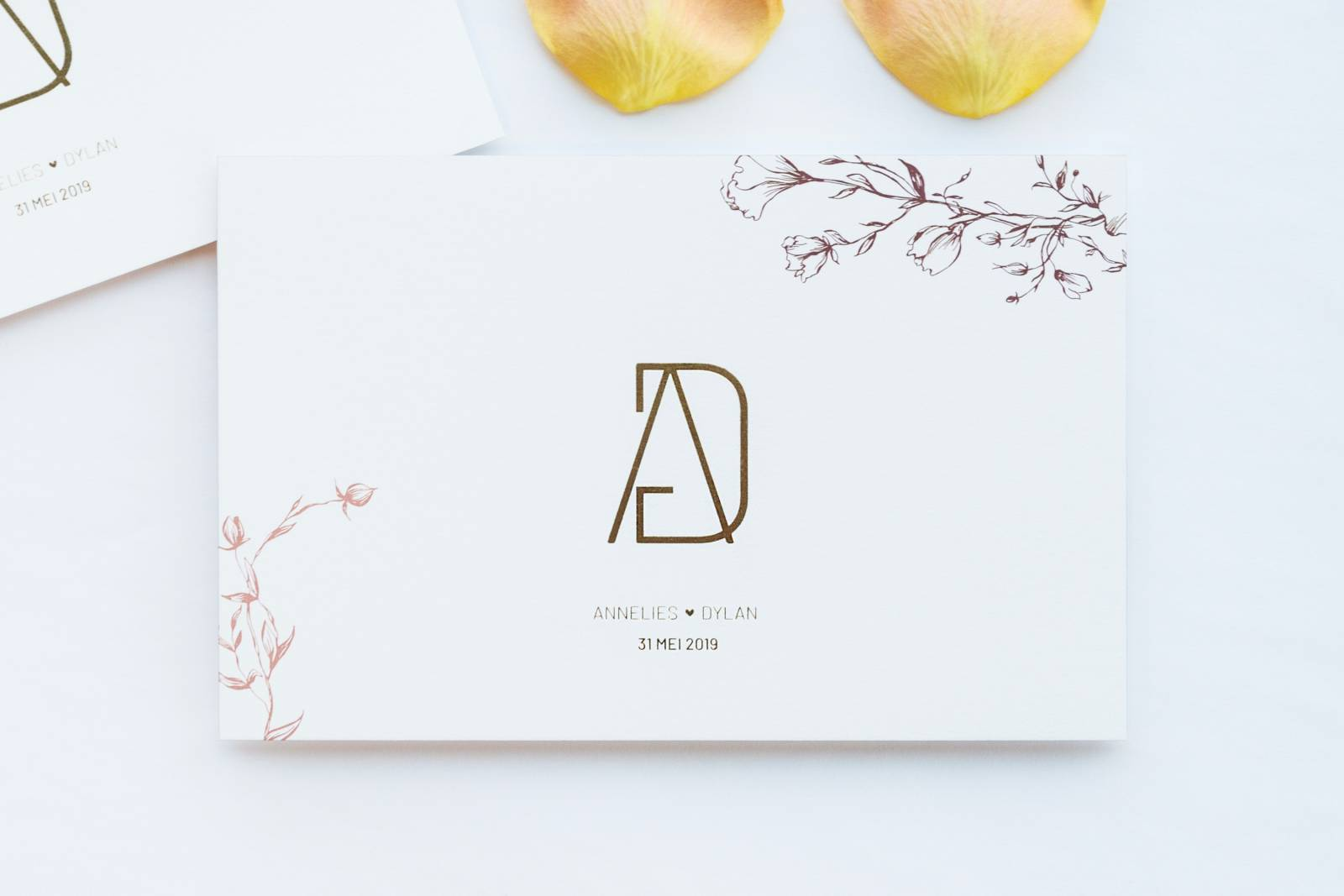 Designcards - trouwuitnodiging - drukwerk huwelijk - grafisch design - House of Weddings - 24