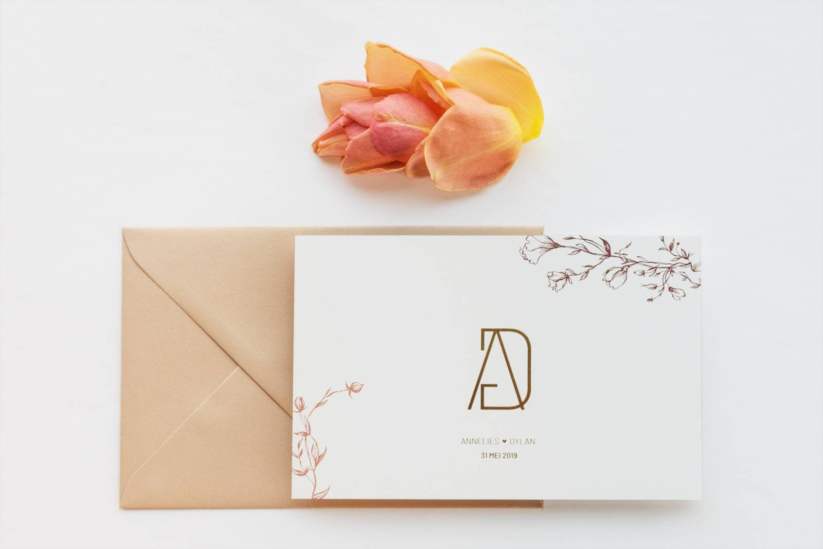Designcards - trouwuitnodiging - drukwerk huwelijk - grafisch design - House of Weddings - 4