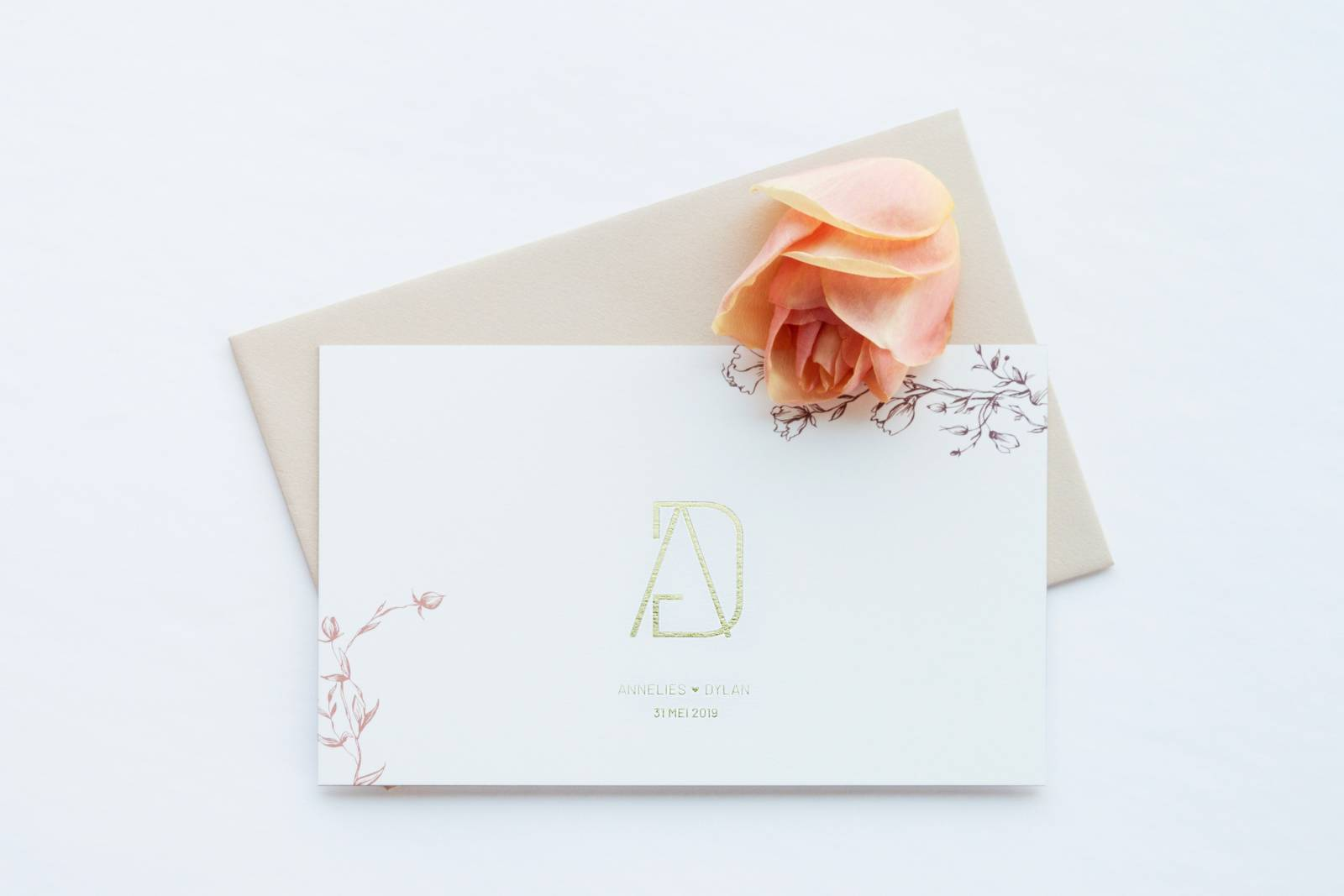 Designcards - trouwuitnodiging - drukwerk huwelijk - grafisch design - House of Weddings - 5