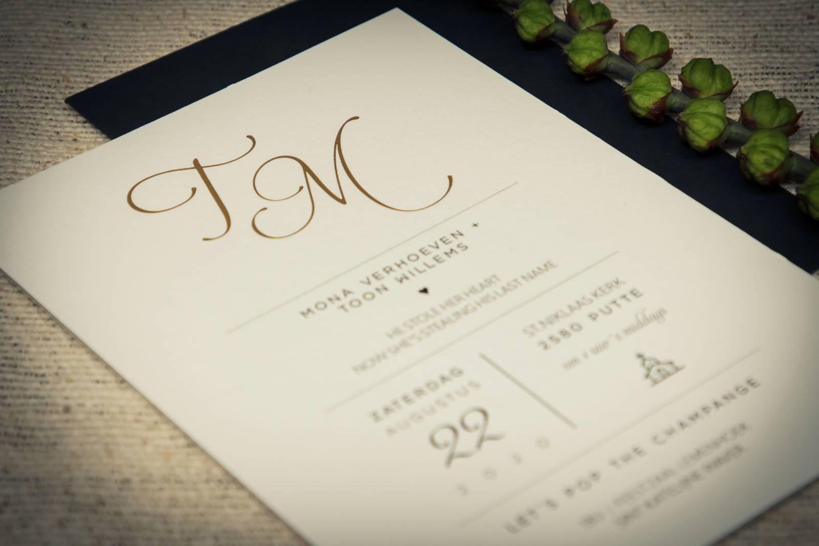 Drukkerij Augustynen - Trouwuitnodiging - Huwelijksuitnodiging - House of Weddings - 9