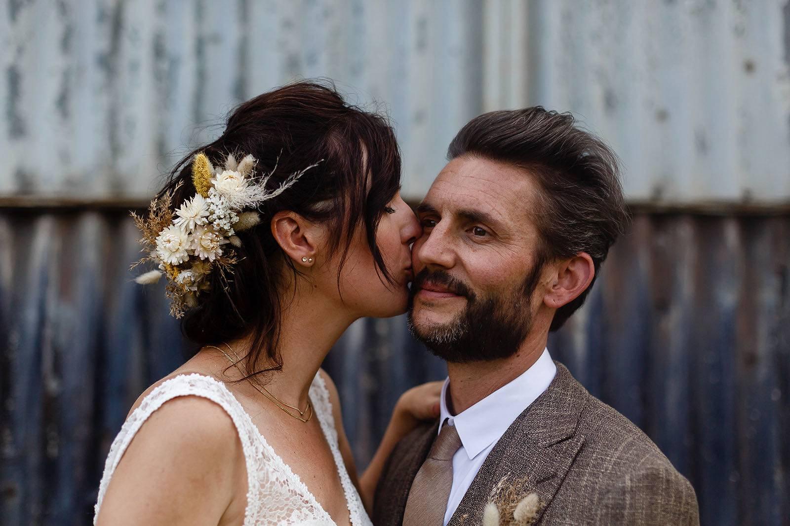 Ginger & Ginder - Klara _ Wim - haarstuk - (c) Didier Bunkers - House of Weddings