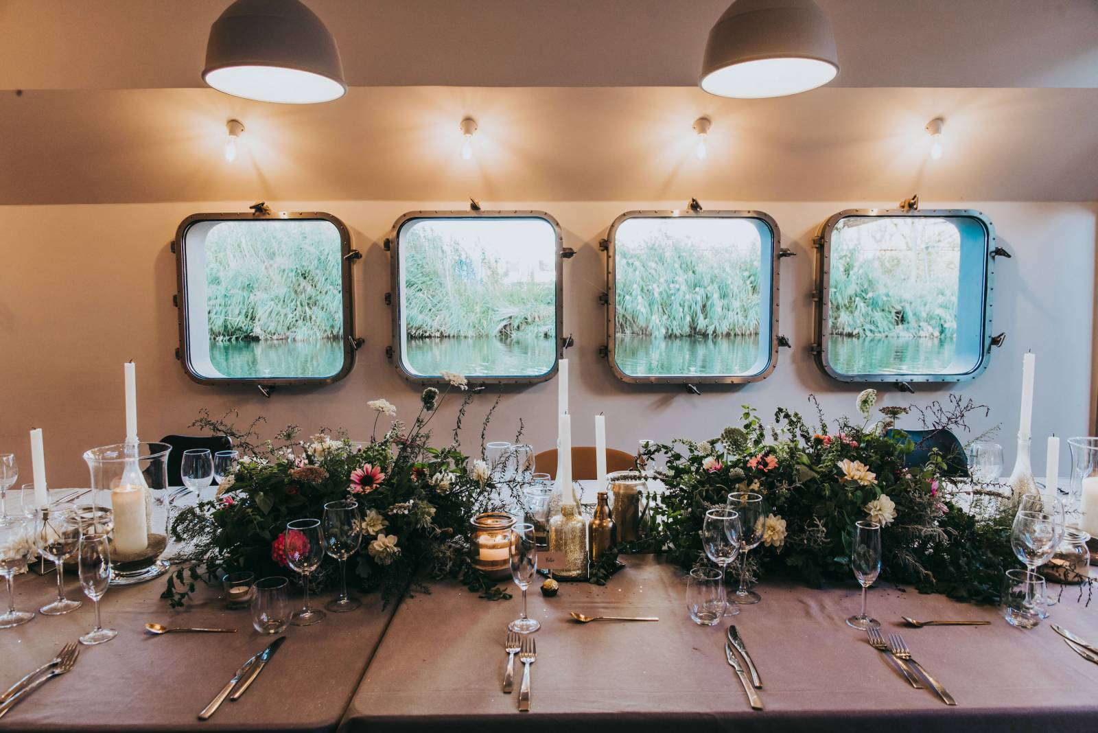 Ginger & Ginder - Laura _ Pieter - tafelstuk (c) Kim Meulemans - House of Weddings