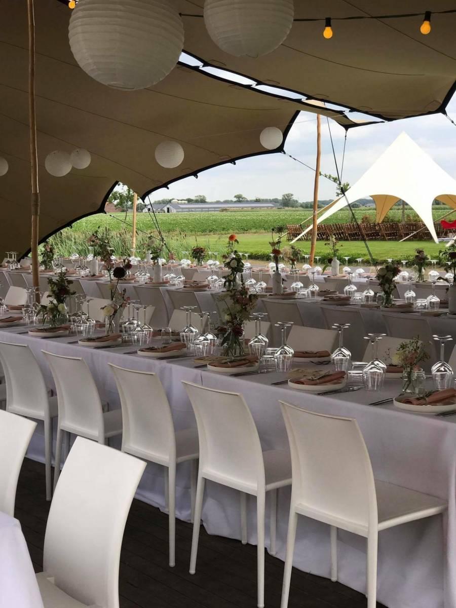House of Weddings Domein t Eikennest Feestzaal West-Vlaanderen Diksmuide Beerst Tuin Park Vijver Tent Ceremonie Schuur pold (7)