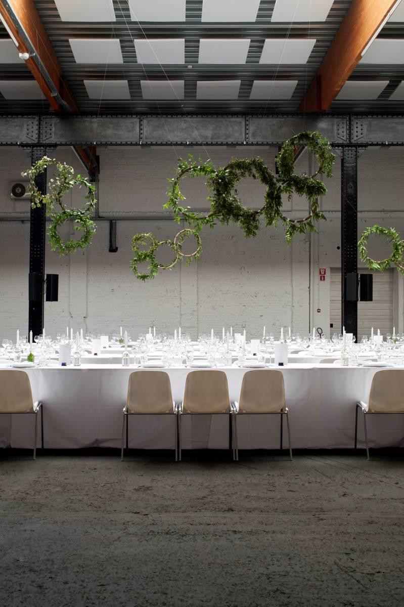 House of Weddings Firma Cantina Feestzaal Wedding Venue Huwelijk Brussel industrieel fabriek ceremonie receptie walking dinner (12)