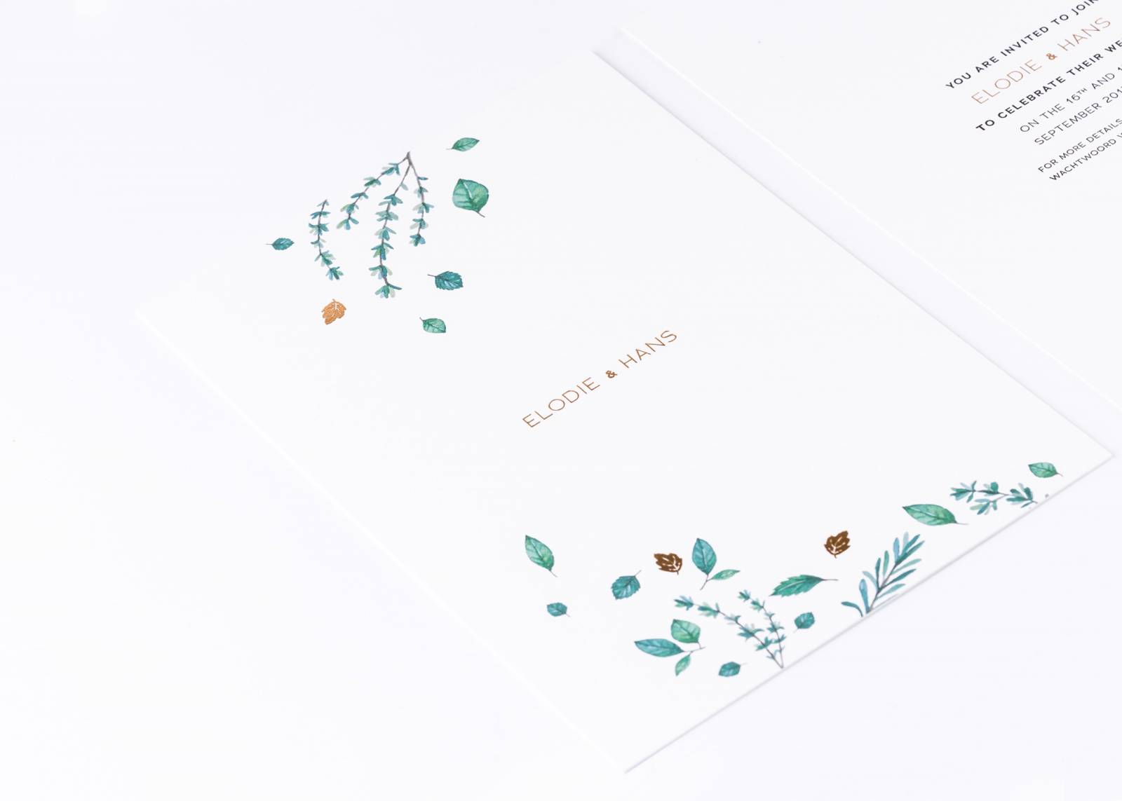 House of Weddings Uitgelijnd Drukwerk Uitnodiging Wedding Stationary Huwelijk Letterpress (1) (Custom)