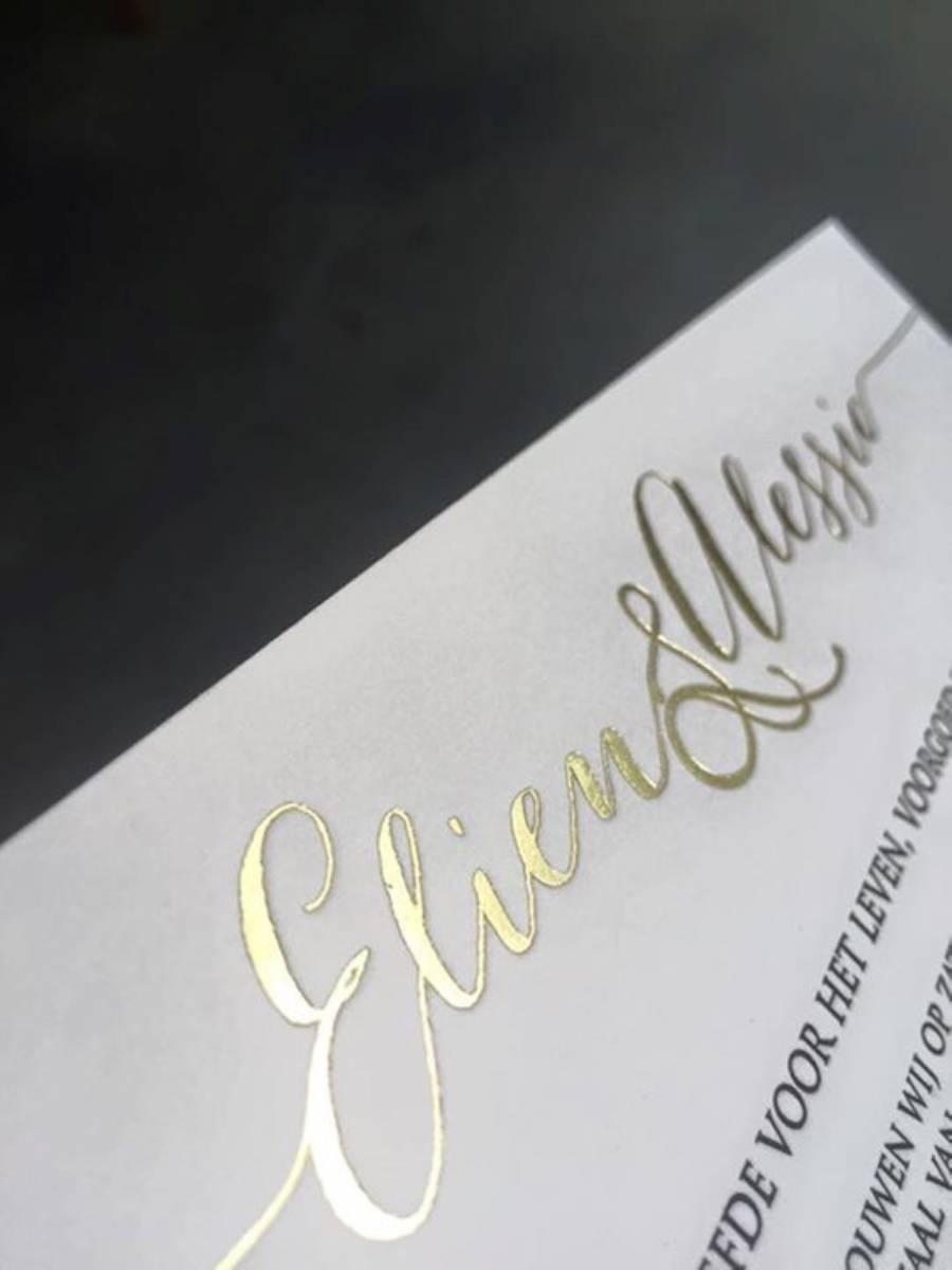 House of Weddings Uitgelijnd Drukwerk Uitnodiging Wedding Stationary Huwelijk Letterpress (12) (Custom)