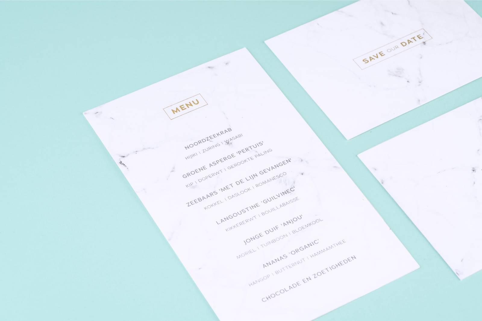 House of Weddings Uitgelijnd Drukwerk Uitnodiging Wedding Stationary Huwelijk Letterpress (2) (Custom)