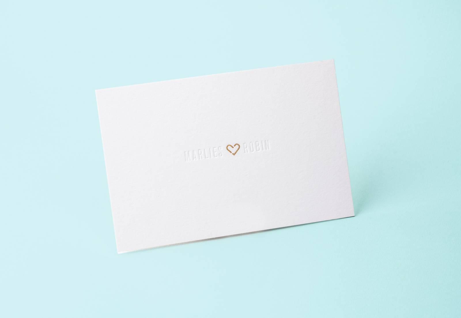 House of Weddings Uitgelijnd Drukwerk Uitnodiging Wedding Stationary Huwelijk Letterpress (6) (Custom)