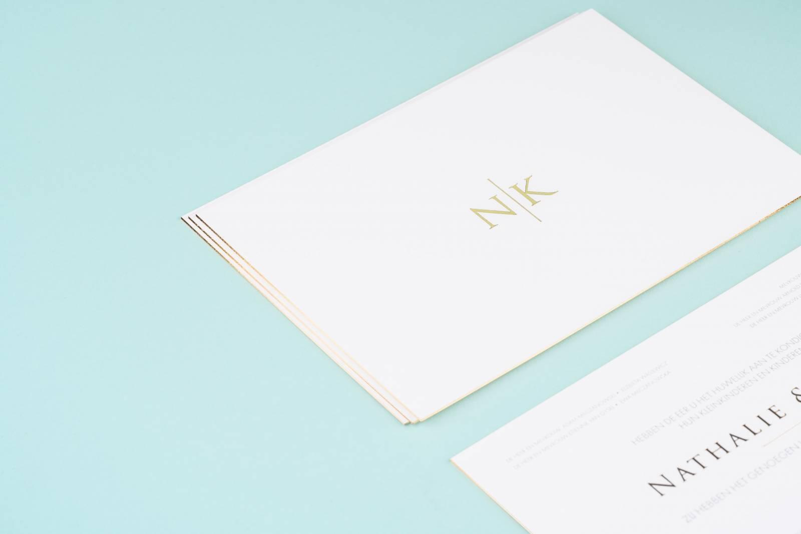 House of Weddings Uitgelijnd Drukwerk Uitnodiging Wedding Stationary Huwelijk Letterpress (7) (Custom)