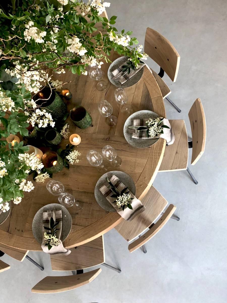 Houtambacht - Eiken Stamtafel - Decoratie - Verhuur materiaal - Huwelijk Trouw Bruiloft - House of Weddings - 5