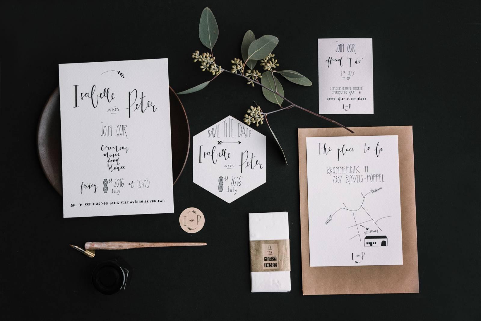 Letters & Styling - Grafisch Ontwerp - Trouwuitnodiging - Uitnodiging huwelijk - trouwdecoratie - House of Weddings - 12