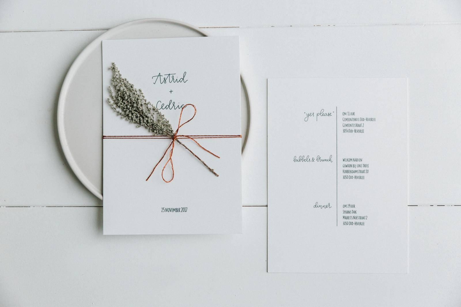 Letters & Styling - Grafisch Ontwerp - Trouwuitnodiging - Uitnodiging huwelijk - trouwdecoratie - House of Weddings - 9
