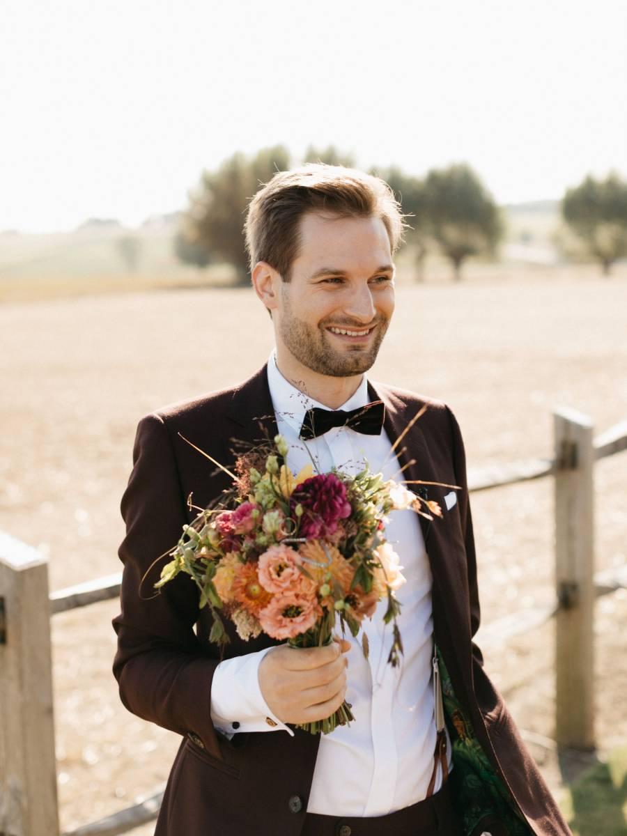 Maison Julie - Bruidsboeket - Bloemen huwelijk trouw bruiloft - Ciska & Jimte - Fotograaf Mathias Hannes - House of Weddings - 1