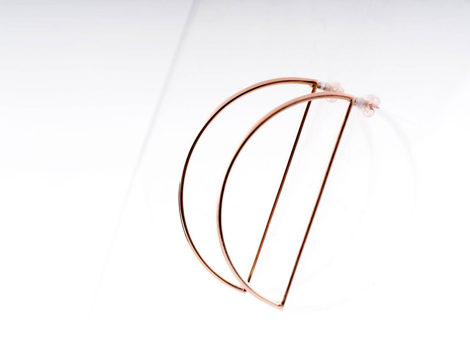 MOMENTS_Moon earrings - pink gold plated - €250