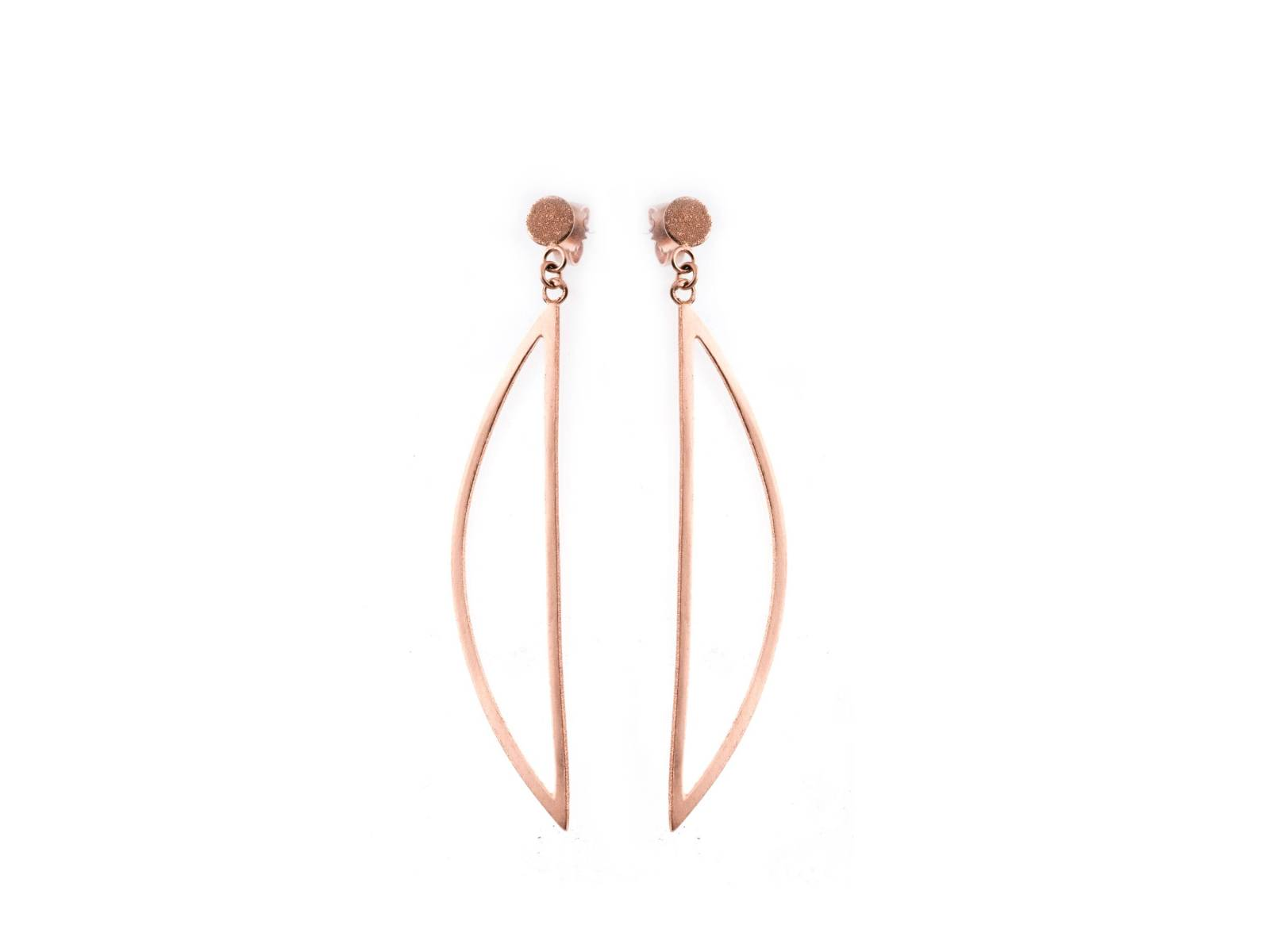 MOMENTS_Sashimi large earrings - pink gold plated - diamanté - €330