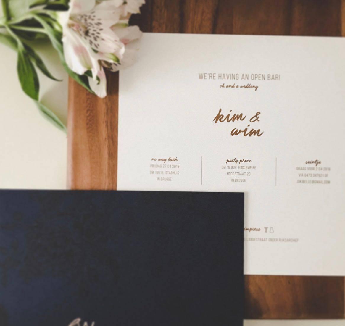 Scarabar - huwelijksuitnodigingen - grafisch ontwerp - House of Weddings  - 3