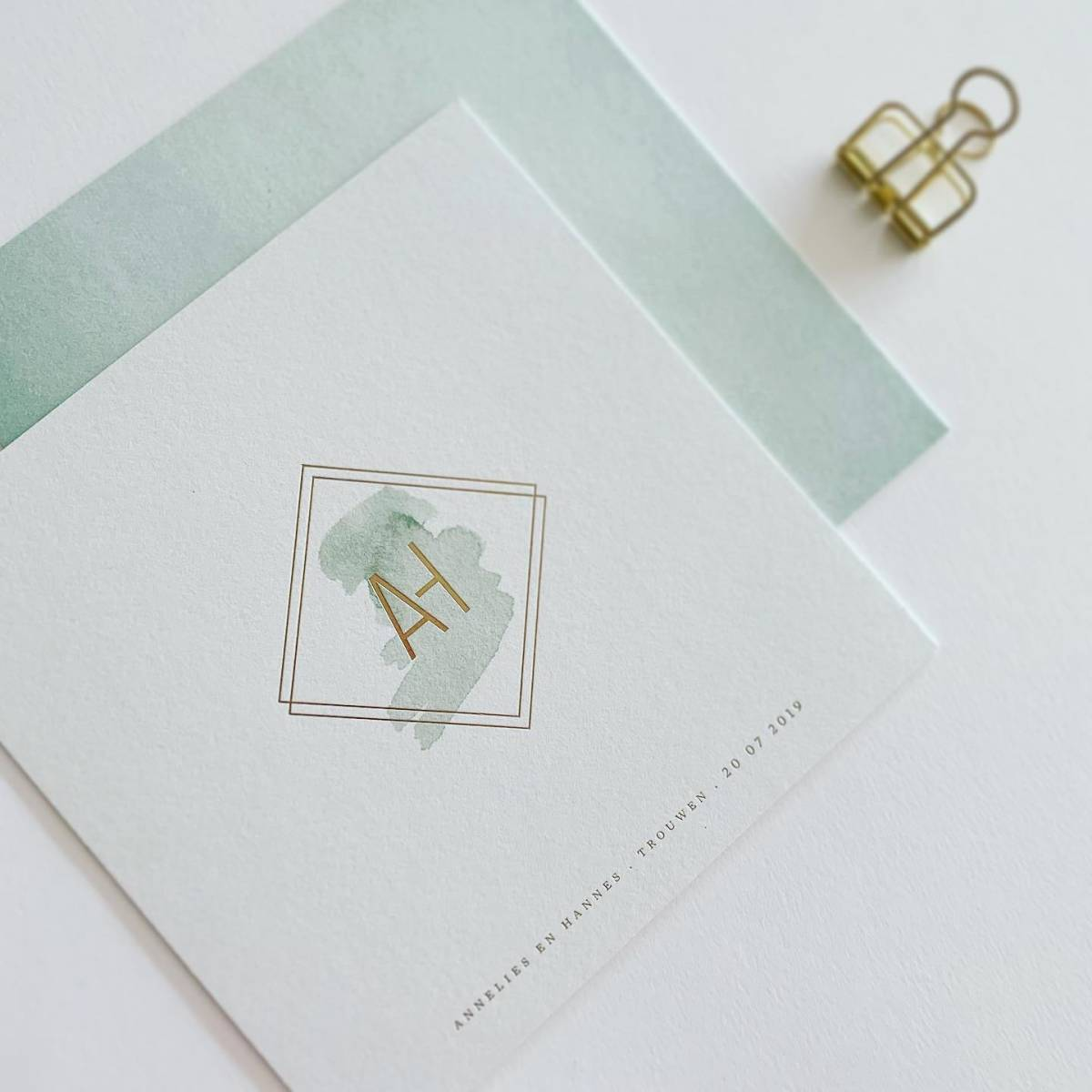 Scarabar - Trouwuitnodiging - Huwelijksuitnodiging - Drukwerk - Huwelijk - Trouw - Bruiloft - House of Weddings - 1