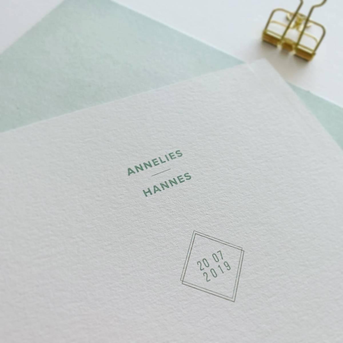 Scarabar - Trouwuitnodiging - Huwelijksuitnodiging - Drukwerk - Huwelijk - Trouw - Bruiloft - House of Weddings - 2
