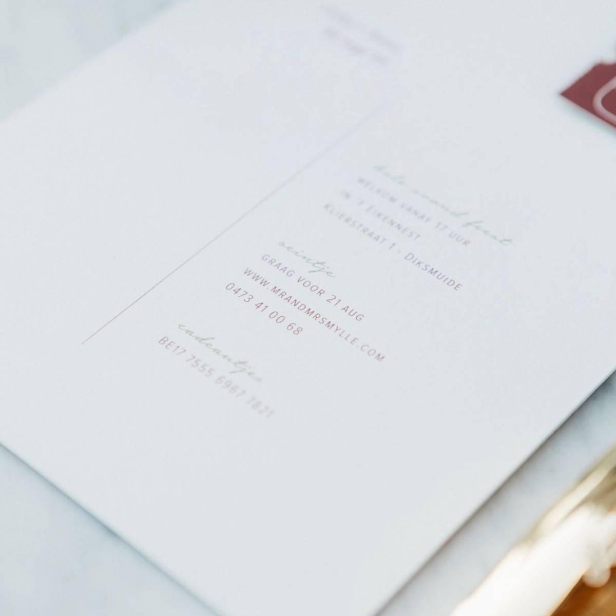 Scarabar - Trouwuitnodiging - Huwelijksuitnodiging - Drukwerk - Huwelijk - Trouw - Bruiloft - House of Weddings - 33