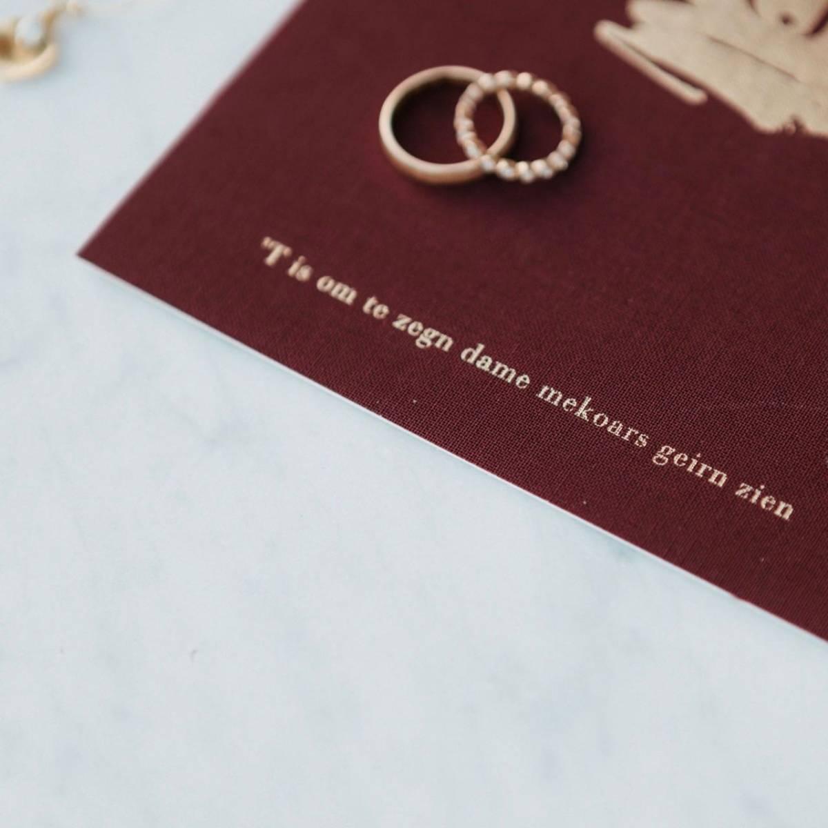 Scarabar - Trouwuitnodiging - Huwelijksuitnodiging - Drukwerk - Huwelijk - Trouw - Bruiloft - House of Weddings - 36