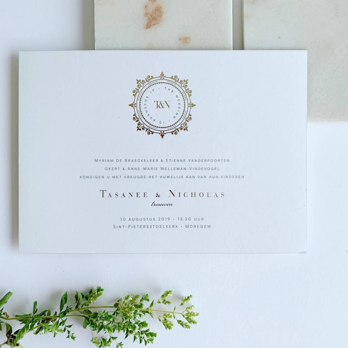 Scarabar - Trouwuitnodiging - Huwelijksuitnodiging - Drukwerk - Huwelijk - Trouw - Bruiloft - House of Weddings - 41