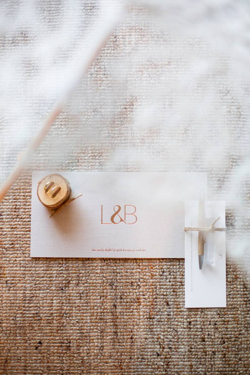 Scarabar - Trouwuitnodiging - Huwelijksuitnodiging - Drukwerk - Huwelijk - Trouw - Bruiloft - House of Weddings - 8