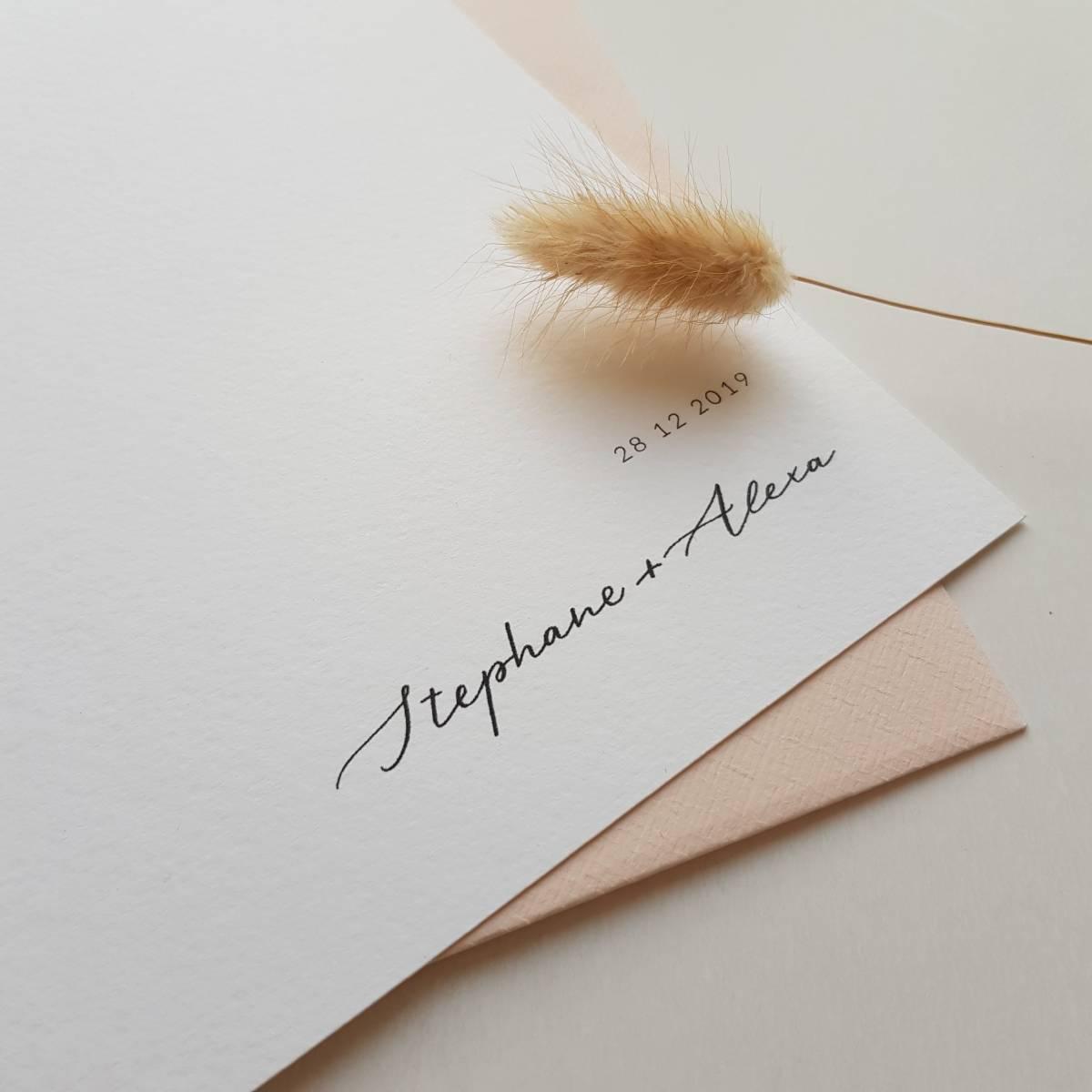 Touch of Gold - Trouwuitnodiging - Huwelijksuitnodiging - Kalligrafie - House of Weddings - 17