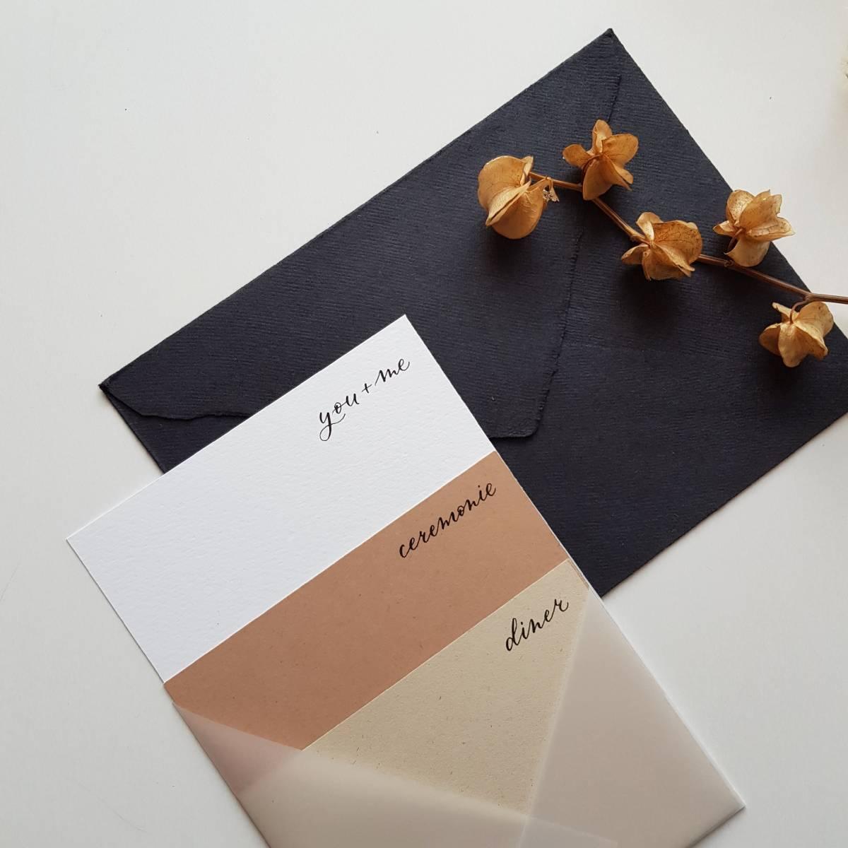 Touch of Gold - Trouwuitnodiging - Huwelijksuitnodiging - Kalligrafie - House of Weddings - 18