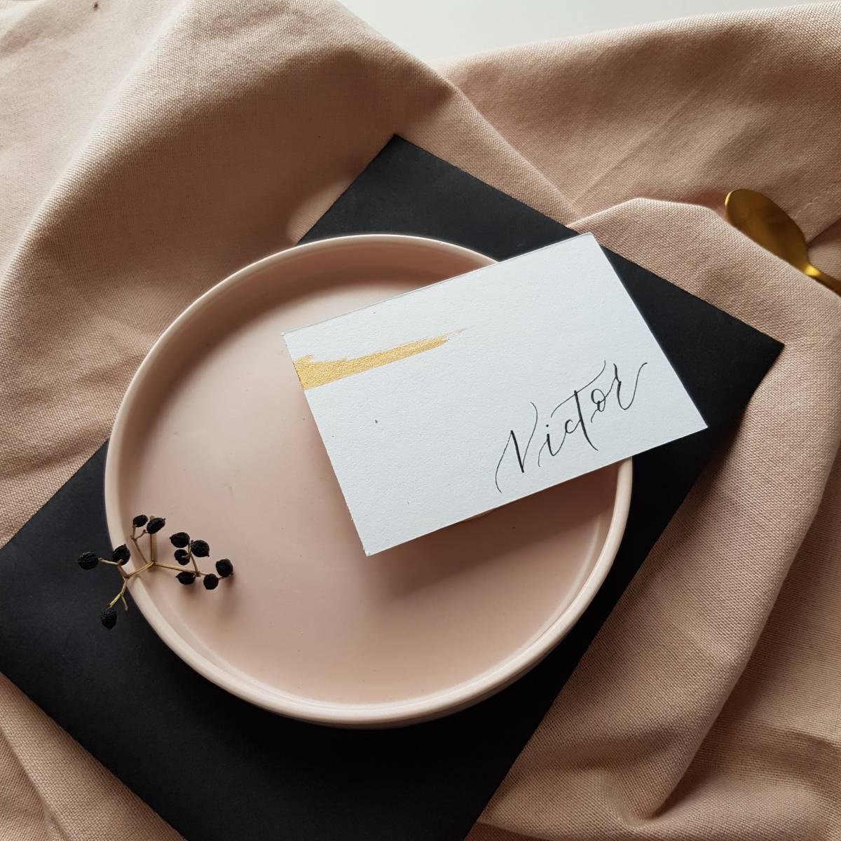 Touch of Gold - Trouwuitnodiging - Huwelijksuitnodiging - Kalligrafie - House of Weddings - 22