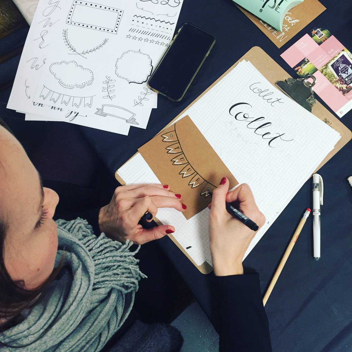 Vicky Chalks A Lot - Workshop Hand lettering - Vrijgezellen - House of Events - 13