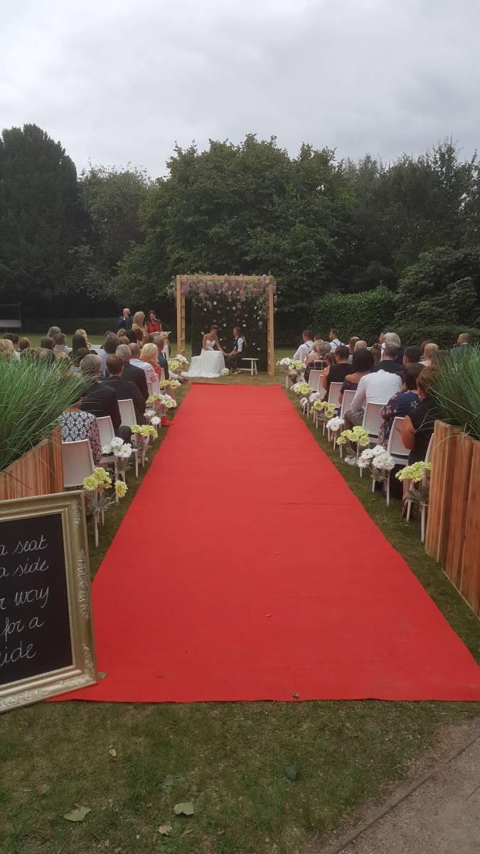 Viering tuin Orangerie Hof Van Reyen - House of Weddings