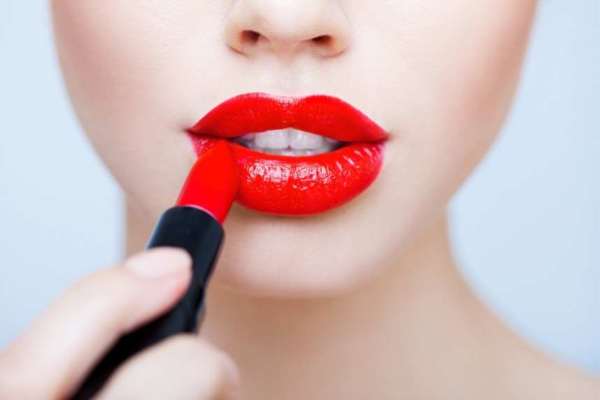 House of Weddings redlipstick rebel circus rode lippen bruid make-up trouwjurk trouwdag (Custom)